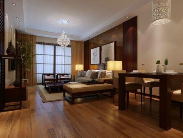 新中式设计风格,总体布局采用对称式的布局方式,空间的色调主要以暖色为主,尽以体现新中式风格的特色,