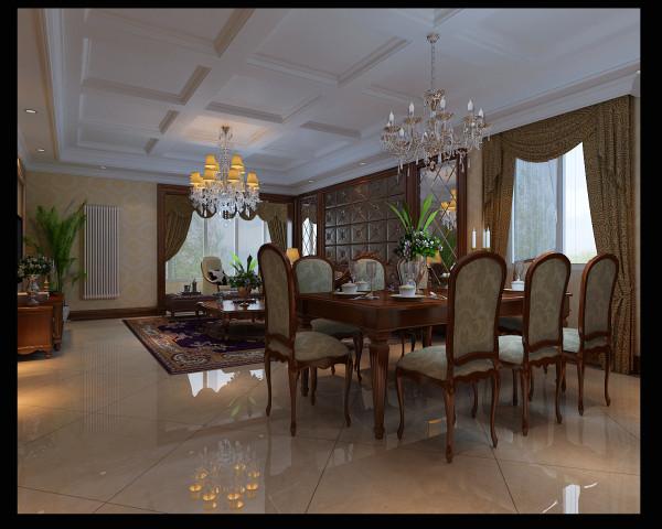 餐厅选用中间软包,两侧镜面效果的方法,达到延伸空间,贴近自然高于自然的视觉效果!是不是很眼熟!很多高档的酒店套房会用这样的方法!