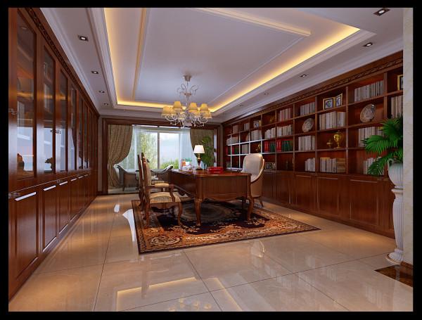 宽大的书房空间!