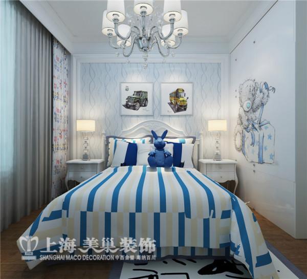 昌建誉峰170平四室两厅简欧风格次卧装修效果图