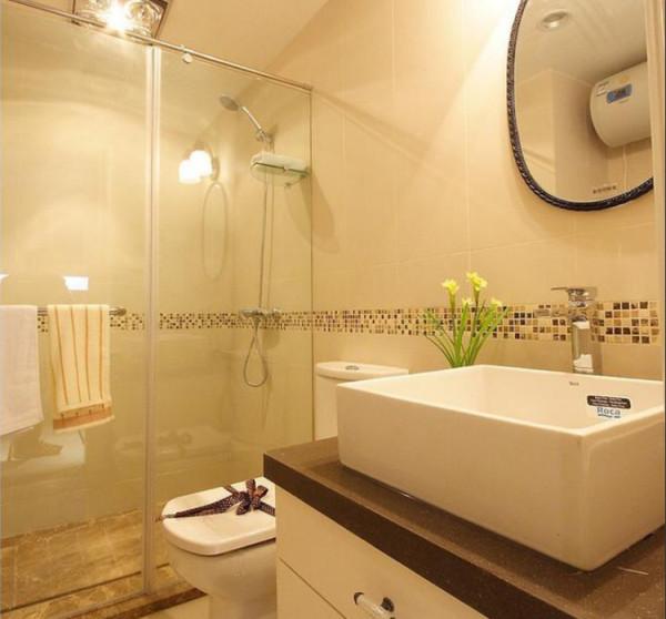 盛润小城之春90平方两室两厅户型,卫生间装修样式