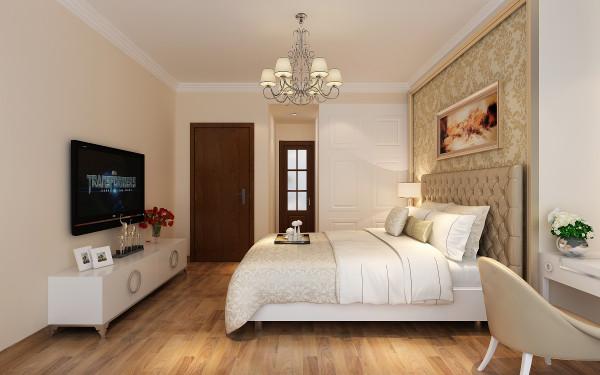 卧室:以简约的线条代替复杂的花纹,采用更为明快清新的颜色,既保留了古典欧式的典雅与豪华,又更适应现代生活的休闲与舒适。