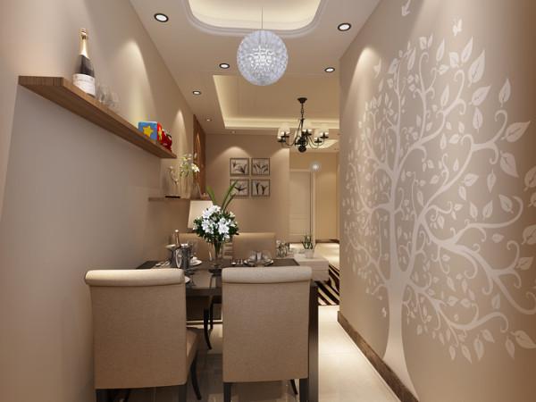 新景家园(66平)一居室户型现代简约风格餐厅效果图展示