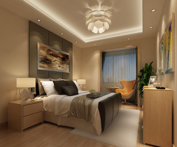 新景家园(66平)一居室户型现代简约风格卧室效果图展示
