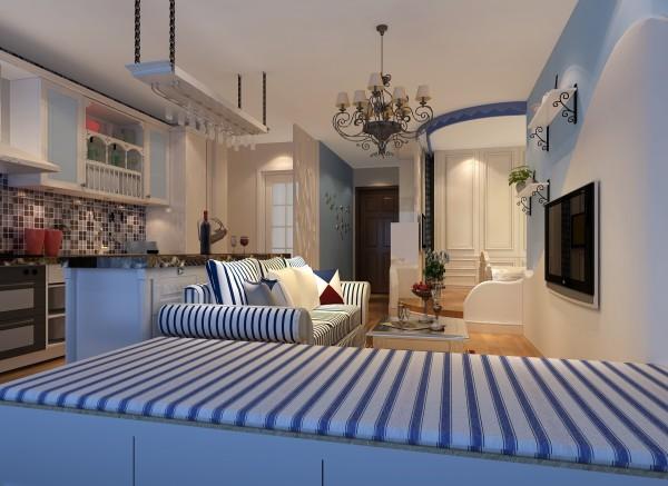 蓝白条纹的家具,通过后期配饰,烘托整体的气氛。忽然让我想起了3D的海底总动员。自由的小鱼!