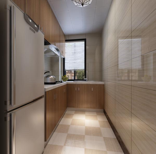新景家园(66平)一居室户型现代简约风格厨房效果图展示