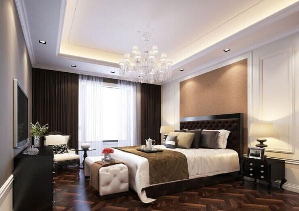 升龙国际中心130平三室两厅卧室装修效果图