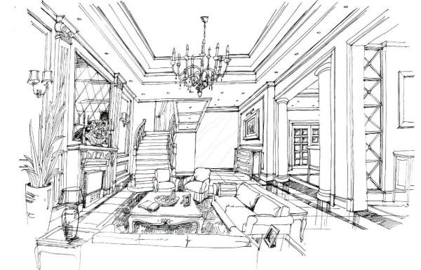 欧式 别墅 鑫界王府 石家庄实创 客厅图片来自石家庄实创装饰公司在