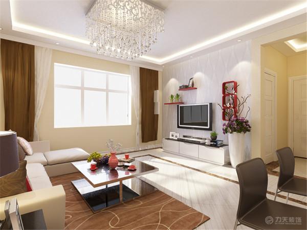 本案为天津河景嘉园,两室两厅一厨一卫,建筑面积86.8㎡。此次设计方案为现代简约风格。
