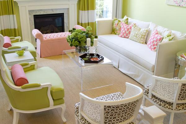 如果你喜欢小清新的装饰风格,那么千万别错过这款粉红与粉绿的搭配,可以说把配色境界上升到了一个极致,两者明度都到达一定的高度,接近纯白,却又在各自的渐变中演绎出别样的风采。
