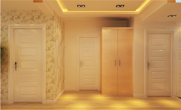 玄关设计: 进户门的鞋柜,增加了室内隐私性,区分了客厅与玄关,是一个完美的区域划分一个黑色过门石划开分区,一个门垛划开墙砖与墙漆,石膏假梁与门垛与过门石,完美的区分开了玄关与厨房。