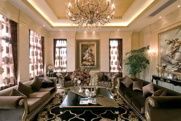 简约欧式后现代别墅小资客厅