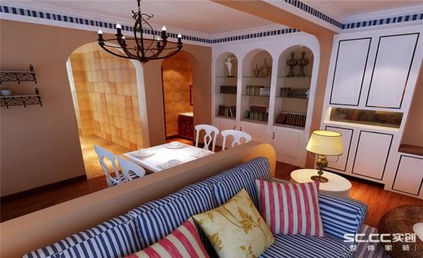 餐厅设计: 白色的桌椅,配上白色的餐, 和椅子上蓝白相间的条纹,给人放松愉悦的心情。
