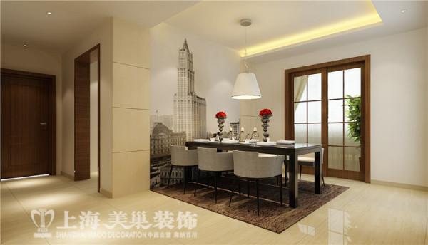 郑州祥和花园190平方四室两厅现代简约风格装修方案-餐厅装修效果图,对于时光的倾慕与眷恋,让人能够触摸到生活的脉络与时间的纹理,会将生活处理的更为 简单却不乏精致。
