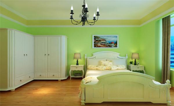 房间设计: 绿色的小清新之家,是小夫妻最适合不过的了,搭配纯白色的衣柜,公主房,为孩子准备的必备品,绿色既护眼又清爽。