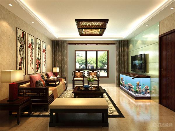 该户型为金地艺境3室2厅2卫1厨,建筑面积135㎡。设计风格是新中式,通过对传统元素的结合打造出富有传统韵味的艺术感觉。
