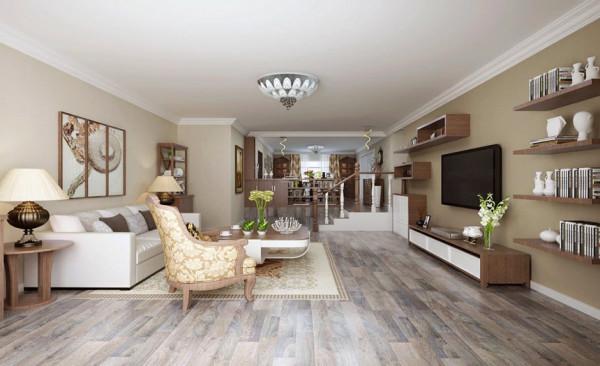 客厅设计: 客户需求:简单低调、注重色彩与搭配客厅是设计的重中之重。配色与配饰尤为重要,轻装修、重装饰,每个空间的层次感都体现的淋漓尽致!