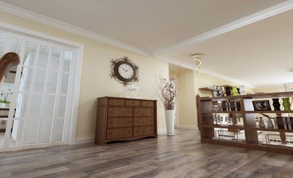 玄关柜设计: 为了搭和整个空间的设计感,在进门口玄关处放置了一个玄关柜,起到收纳和呼应置物架的作用,既实用,又美观