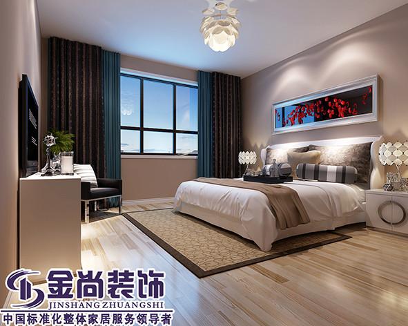 卧室的浅色木地板更加温馨舒适。