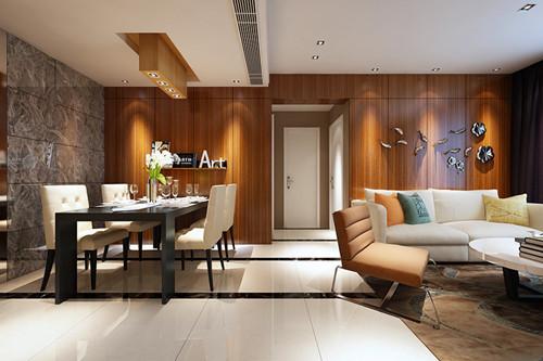 家具大量采用胡桃木和枫木,为了突出木质本身的特点