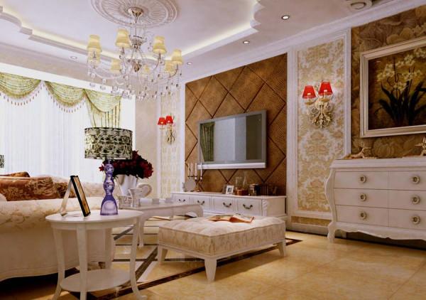 颐景园欧式风格客厅效果图