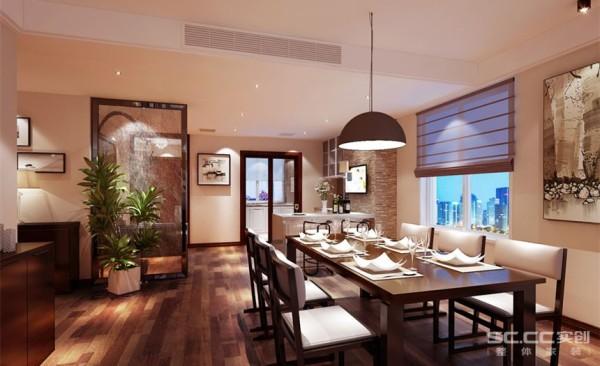 餐厅设计: 设计师根据业主的需求,设计了餐厅与厨房相互融合,添加入西餐厅的空间。