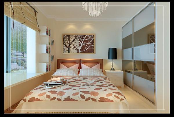 次卧高大上的衣柜时尚简约,竹帘又使的很休闲惬意,通过飘窗与大自然接近不是一件很有趣的事吗,,