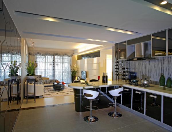 现代简约风格客厅全貌