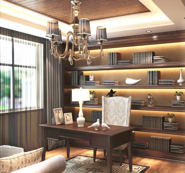 书房应该是整个空间安静系数最高的区域,为业主提供良好的办公阅书空间。根据业主的阅书习惯确定了书房的书桌和书柜的摆放方位,书房内的大窗户为室内提供了充足的自然光源
