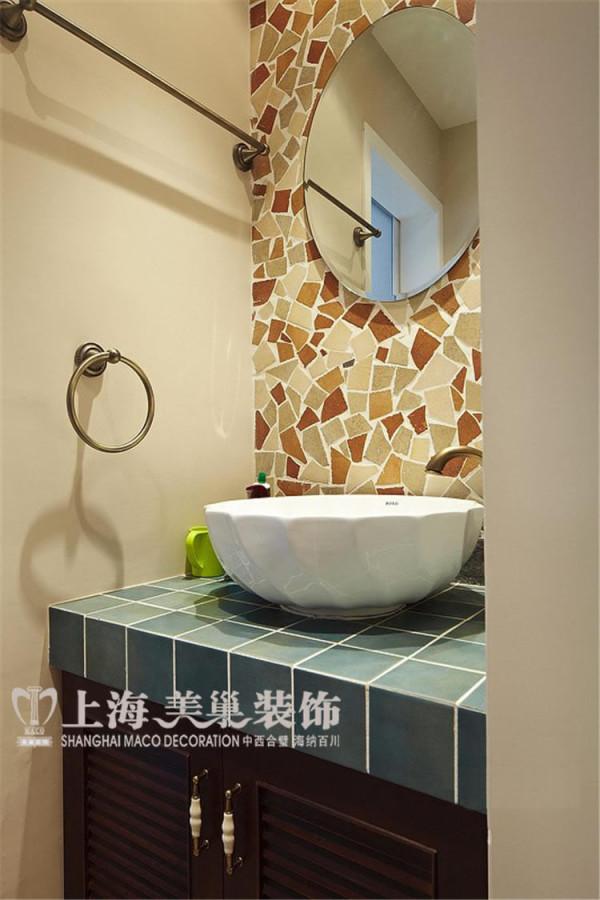 金域上郡120平三室两厅混搭风格装修效果图——卫生间