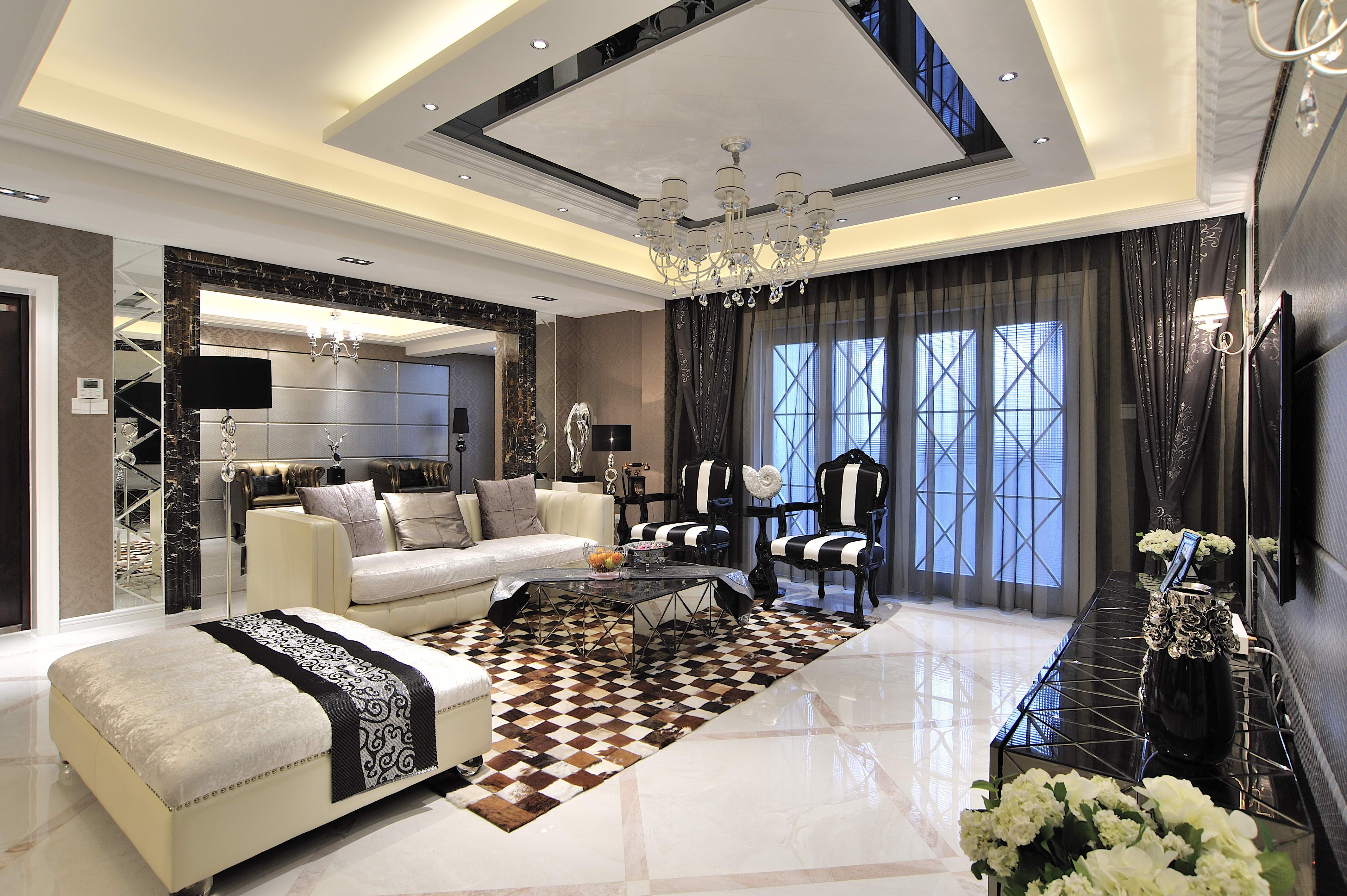 后现代港式欧式浪漫舒适华丽优雅精美尊贵客厅装修_美