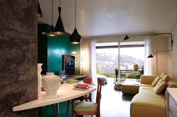 客厅装修以及吧台唯美设计