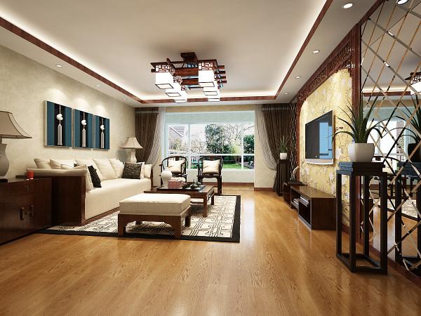设计理念:客厅是入户的第一个空间,能够给人对居室最直观的第一印象 往往也是体现出主人生活的品质的关键 回纹花格的电视墙融入了中式元素 古朴宁静。