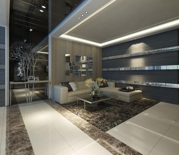 卧室整体设计简单大方,背景墙以壁纸为主,使整体风格温馨,和谐。