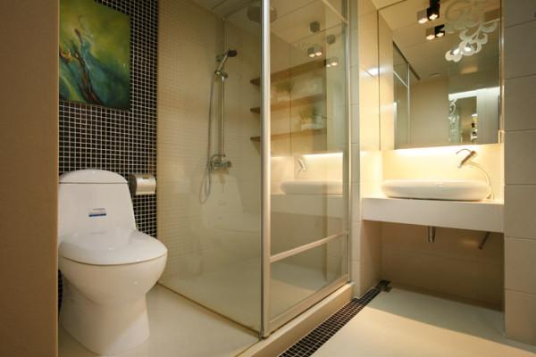 业之峰装饰设计师在考虑卫生间设计时,主要是功能方面考虑。