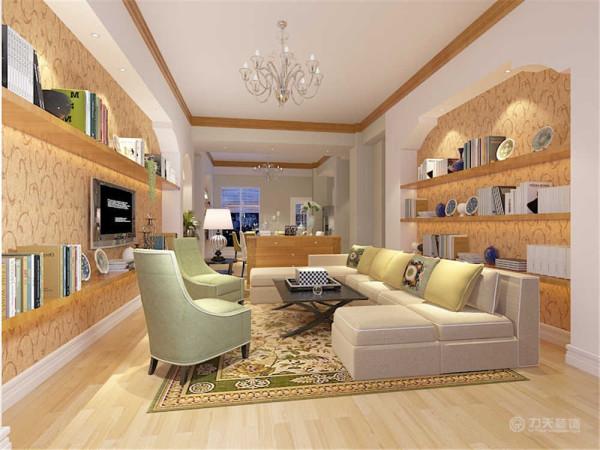 该户型富民河畔三室两厅两卫一厨168㎡,该户型的设计风格是美式田园风格。