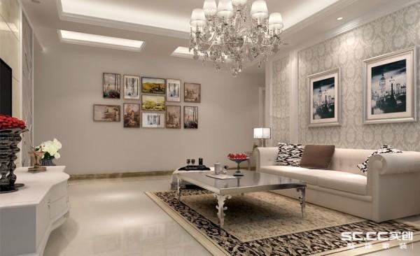 时尚的白色调沙发与装饰品的摆放,让整个客厅营造出时尚、高贵、轻松、愉悦的视觉感空间