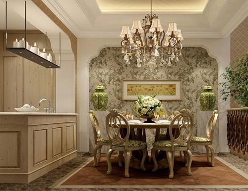 餐厅同样打造出与房屋整个格局的霸气,高档的家居,橱柜,一番大手笔的结果也是带来更加舒适的享受