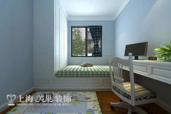 建业贰号城邦美式乡村89平三室两厅装修案例效果图——儿童房效果图