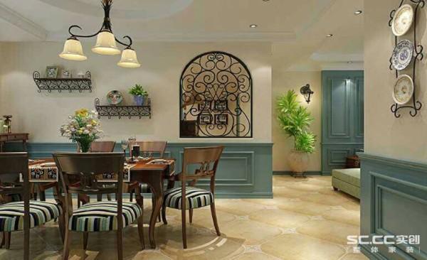 餐厅设计: 欧式铁给空间增添欧式风情