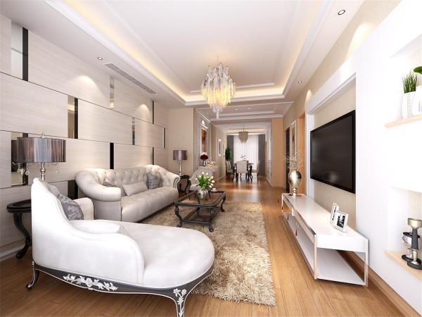 布鲁斯小镇三居室户型装修现代风格设计方案展示——上海聚通装潢最新装修设计案例!