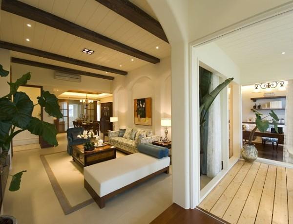 拱形的设计让整个空间富有层次感设计。