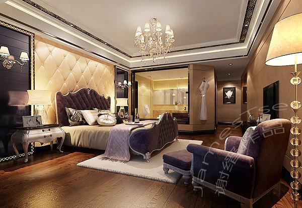 誉峰别墅装修设计 新古典卧室装修效果图