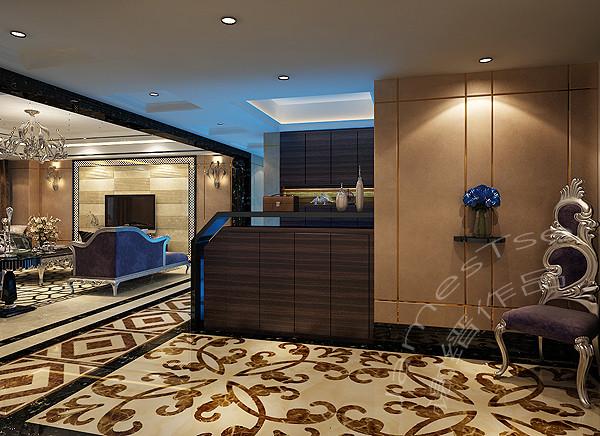誉峰别墅装修设计 入户厅装修效果图