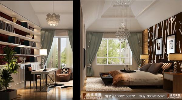 悠山郡书房卧室细节效果图----成都高度国际装饰设计