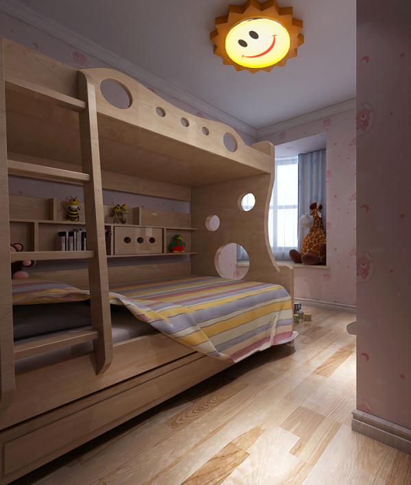 儿童房的上下铺设计