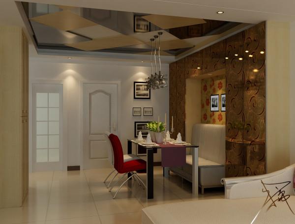 餐厅是一个充满艺术气息的空间,墙面绘画、高靠背沙发、搂花玻璃和顶面的棱形的茶色玻璃和木制造型等精心设计和选择,让用餐也成为了一种艺术的享受。