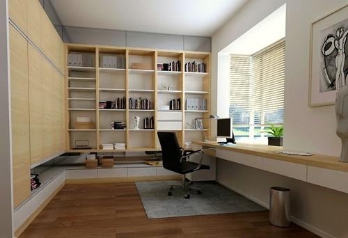 压缩客厅的空间拓展出储藏间,满足客户的收藏需求。