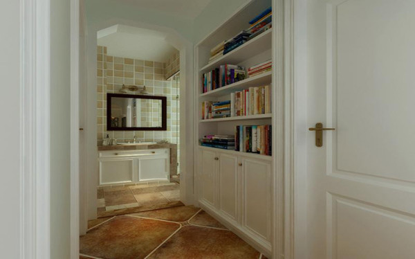 书房简单、大气、温馨的设计让小孩有个轻松愉悦的阅读心情