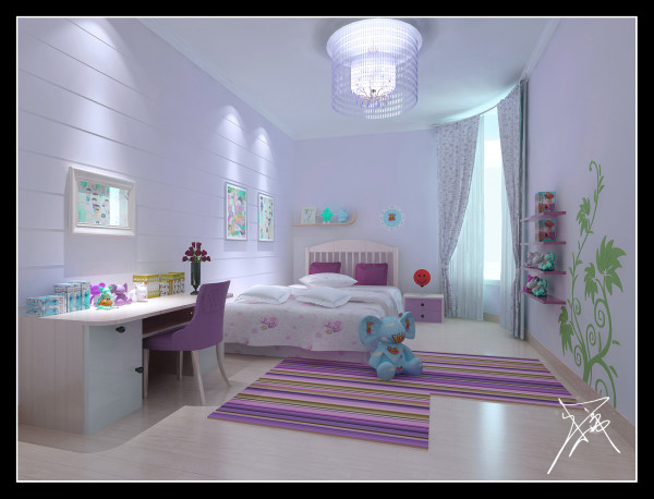 儿童房:阳光透过幔纱,是这样的奢华与纯净,弥漫着令人窒息的美。